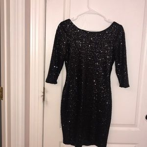 Fun black sequins dress